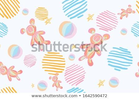 cute · miś · bezszwowy · gwiazdki · alfabetyczny - zdjęcia stock © pikepicture