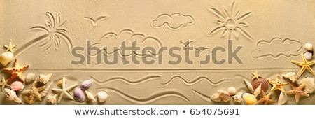 Stock photo: sand drawings
