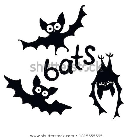Illustratie bat ingesteld halloween maan dier Stockfoto © Blue_daemon