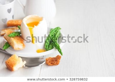 緑 アスパラガス 卵 白 プレート 朝食 ストックフォト © Melnyk