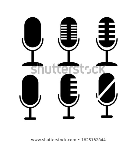 Different microphones types flat icon set Stock photo © netkov1