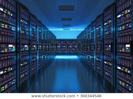 Szerver szoba hosting nagy adatközpont felhő Stock fotó © MarySan