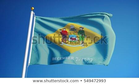 Delaware bandeira região Estados Unidos secar terra Foto stock © grafvision