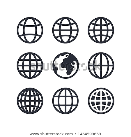 set of nine globes stock photo © netkov1