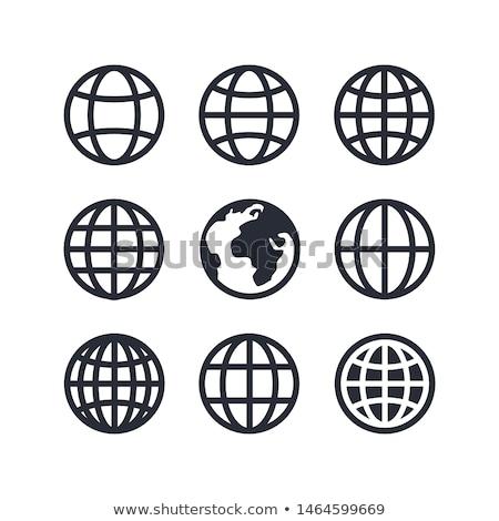Establecer nueve globos tierra todo Foto stock © netkov1
