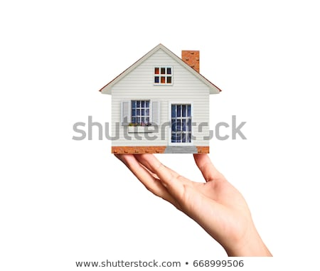 hand and house isolated on white background  Stock photo © rufous