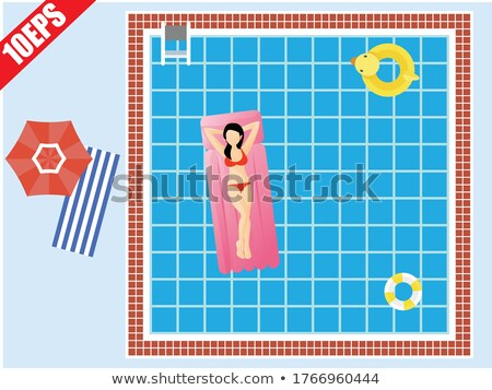 Nyár medence buli poszter design sablon víz Stock fotó © articular