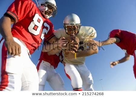 attaccare · americano · sport · uomini · esecuzione - foto d'archivio © robstock