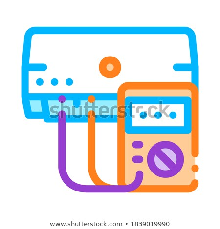 diagnosis broken conditioner vector thin line icon stock photo © pikepicture