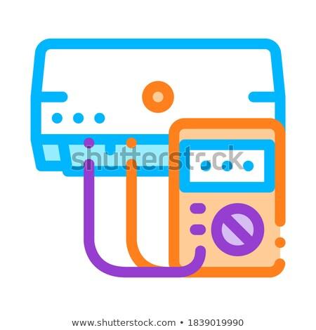 Diagnóstico roto acondicionador vector delgado línea Foto stock © pikepicture