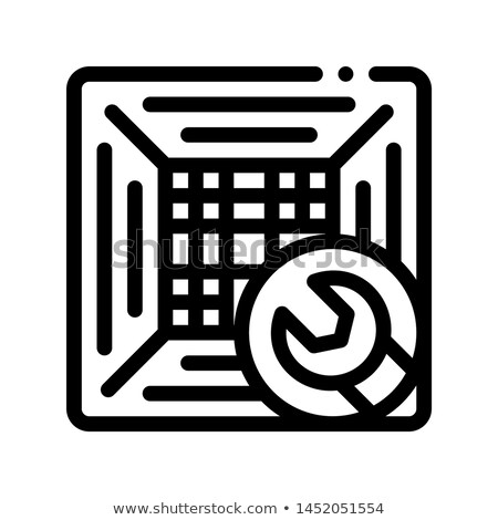 Mending Conditioner System Vector Thin Line Icon Stock photo © pikepicture