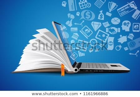 Foto stock: Ebook Concept Vector Illustration