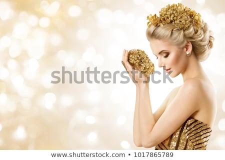 Ritratto lusso donna gioielli modello costoso Foto d'archivio © serdechny