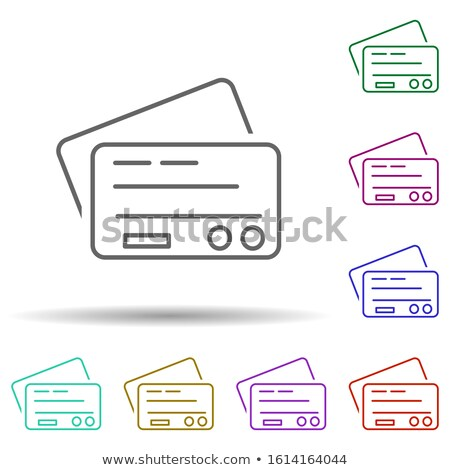 Green Credit Debit Card Icon stock photo © kbuntu