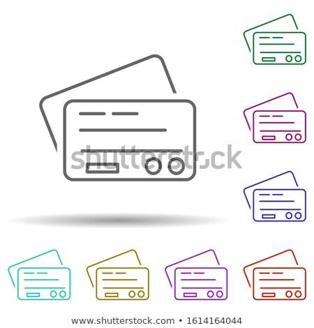 Verde crédito tarjeta de débito icono alto Foto stock © kbuntu