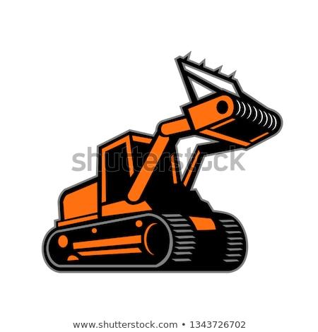 トラクター アイコン レトロな スタイル 実例 林業 ストックフォト © patrimonio