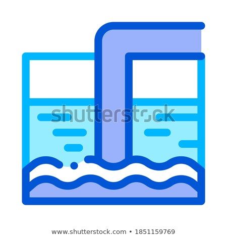 Su tedavi tank tüp vektör ikon Stok fotoğraf © pikepicture