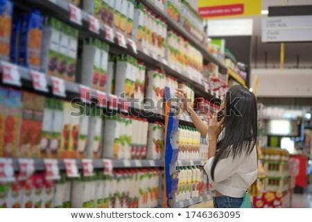 シェルフ 情熱 果物 スーパーマーケット ベクトル ストックフォト © robuart
