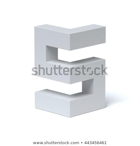 青 フォント 手紙 3D 3dのレンダリング 実例 ストックフォト © djmilic