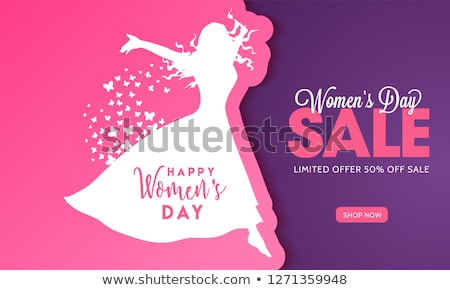 Best Wishes on Womens day, 8 March Holiday. Vector Stock photo © robuart