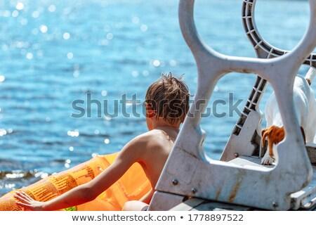 Man Geel matras mannelijke zee geïsoleerd Stockfoto © robuart