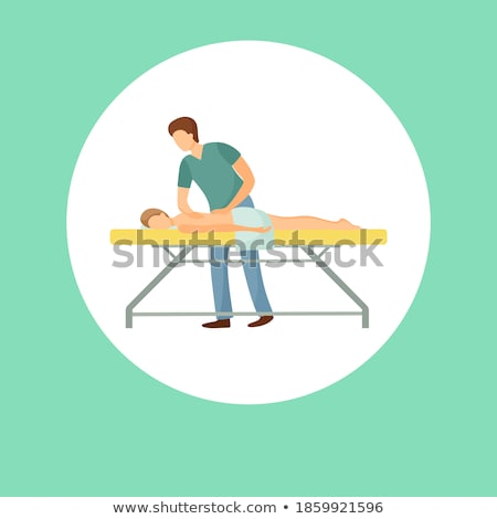 Massage Poster Masseuse Making Relaxing Movements Stock photo © robuart