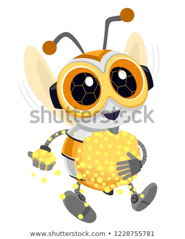 Robótica abeja polen ilustración robot recoger Foto stock © lenm