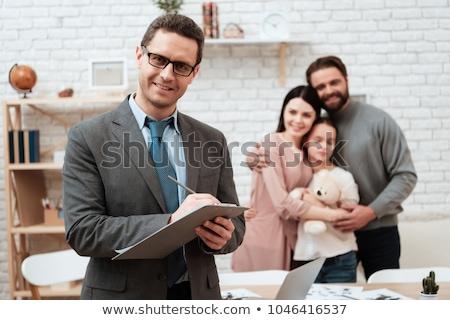 çift sorun aile psikolog ofis kişi ilişki Stok fotoğraf © dolgachov