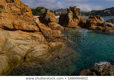 Seascape of resort area of the Costa Brava near town Lloret de M Stock photo © boggy