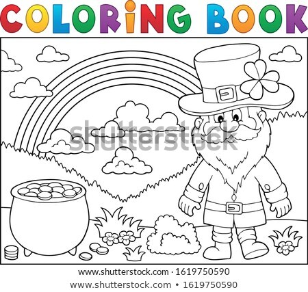 Coloring book St Patricks Day theme 3 Stock photo © clairev