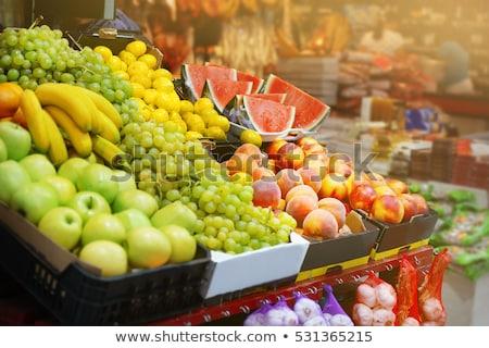 Válogatás gyümölcsök piac friss alma gyümölcs Stock fotó © olira