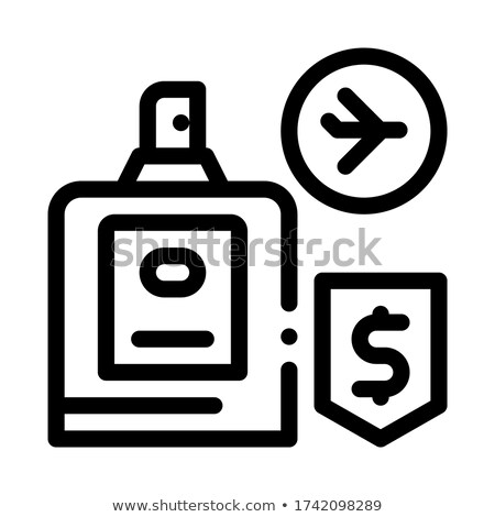 cosmetics in duty free icon vector outline illustration Stock photo © pikepicture