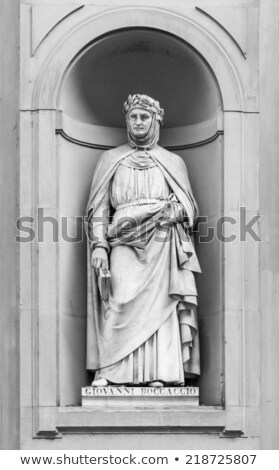 Boccaccio in the Niches of the Uffizi Colonnade, Florence. Stock photo © wjarek