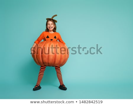 portrait of a little girl at halloween stock photo © photography33