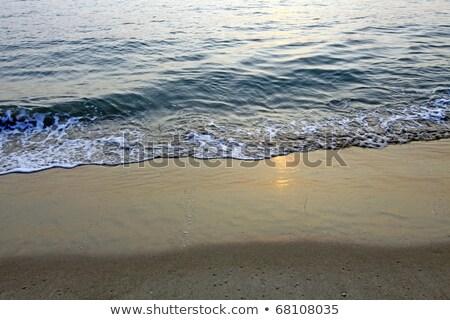 Naplemente tenger hullám fény szépség nyár Stock fotó © kawing921