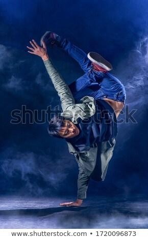 Táncos szívós mozgás fiatal férfi mutat Stock fotó © feedough