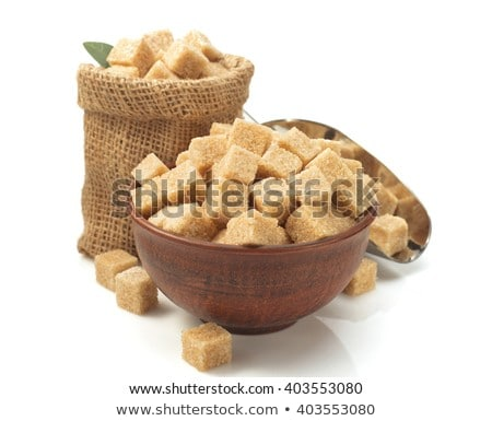 brown sugar cubes in metal scoop Stock photo © jirkaejc