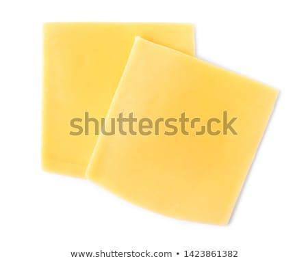 queijo · fatias · isolado · branco · topo · ver - foto stock © saddako2