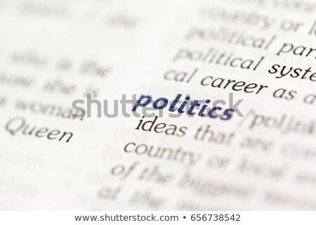 Siyasi sözlük tanım kelime yumuşak odak Stok fotoğraf © chris2766