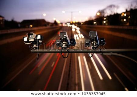 sebességhatár · radar · közelkép · kép · fény · égbolt - stock fotó © franky242