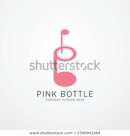 Logo şarap meyve içmek gökkuşağı Stok fotoğraf © shawlinmohd