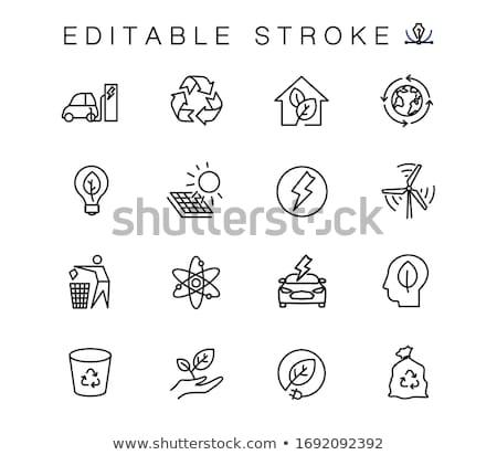 Otthon zöld vektor ikon terv digitális Stock fotó © rizwanali3d