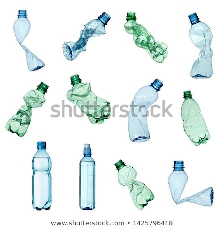 plastique · bouteille · toxique · isolé · blanche · groupe - photo stock © ozaiachin
