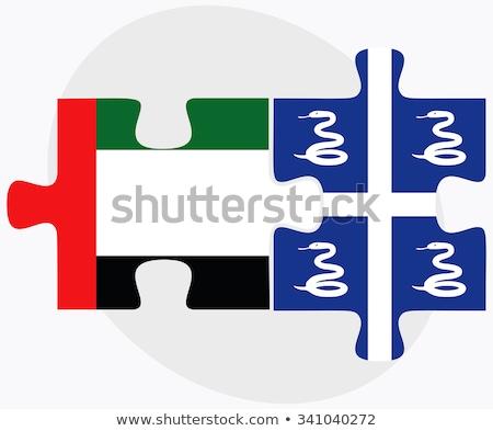 Emirados Árabes Unidos bandeiras quebra-cabeça isolado branco negócio Foto stock © Istanbul2009