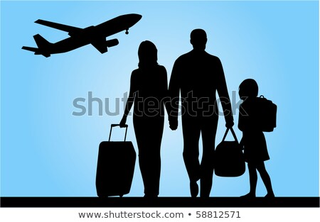 family with bags on meadow stock photo © paha_l