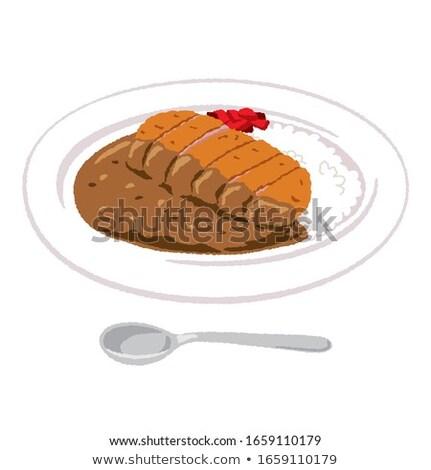 porc · épicé · pickles · jaune · poivre - photo stock © digifoodstock