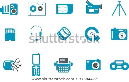 herramientas · iconos · vector · digital · impresión · proyectos - foto stock © sahua
