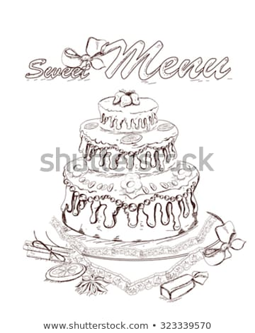 рисунок именинный торт улице рождения торт лет Сток-фото © meinzahn