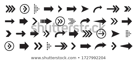 arrow right flat blue and white colors round button stock photo © ahasoft
