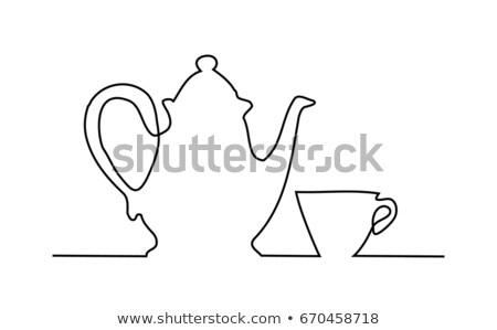 Kahvaltı çay fincanı meyve turuncu fincan sıcak Stok fotoğraf © M-studio